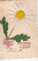 24288 Decoupis Tissus Marquerite En Relief -temoignage D'amitié - Sans éditeur - Fêtes - Voeux