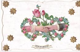 24289 Decoupis Main Couple -loin Des Yeux Pres Du Coeur - - Fêtes - Voeux