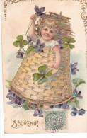 24290 En Relief Enfant Panier Violette -souvenir - 464 - Fêtes - Voeux