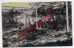 HAUBOURDIN-Usine Detruite-Carte Photo Allemande-Guerre 14-18-1WK-Frankreich-France-59- - Haubourdin