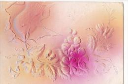 24292 Oiseau Colombe Fleur - En Relief - Sans Editeur - Fantaisies
