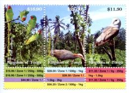 ton140901 Tonga 2014 Bird Parrot Owl 3v