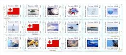 ton140801 Tonga 2014 Pacific SIDS Letter Rate 18v Flag Ship Whale Sanke Fish