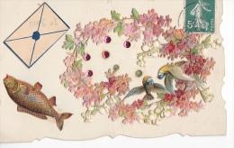 24298 1er Avril Poisson, S -decoupis Oiseau Fleur Strass Lettre - 1er Avril - Poisson D'avril