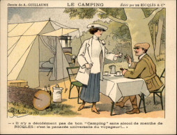 CAMPING - Chromo RICQLES - Dessin De GUILLAUME - Autres