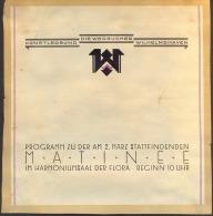 GERMANY - MATINEE - DIE WEGSUCHER WILHELMSHAVEN - Cc 1910 - Programas