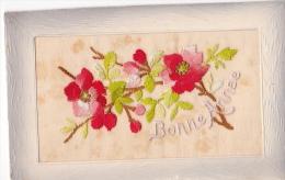 24301 Cpa Brodée Bonne Année - Aubepine -fleur - Ed SEL - Brodées