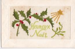 24302 Cpa Brodée Heureux Noel-  Houx Guy Etoile- Ed SEL - Brodées