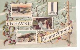 24305 Le Havre Bonne Année  ! 1er Janvier LL