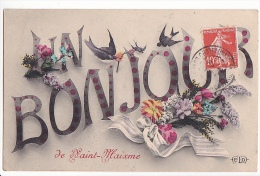 24309 28- SAINT-MAIXME - Un Bonjour - ELD - Hirondelle - Non Classés