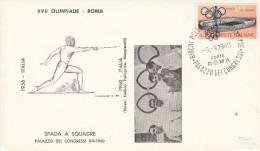 FECHTEN-FENCING-ESCRIME-T IRARE DI SCHERMA, ITALY, 1960, Special Postmark !! - Scherma