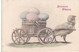 24314 Joyeuses Paques  Poussin Attelage -ASV Serie 422 - Pâques
