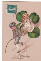 24317 Amities -enfant Trefle  Doré -PBF 11362 - Bébés