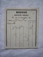 Mini Facture Buffet Marchand Boucher Paris 187? - Alimentos