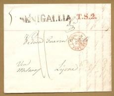 SENIGALLIA + Cachet Sarde 1839 + T.S.2 + Taxe - SARDAIGNE - Pas Connaisseur - Italy