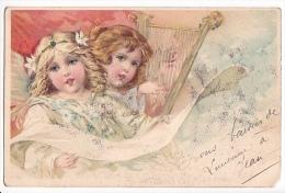 24320 Enfant Chanteur Chorale Ange Harpe - Sans Ed - Non Classés