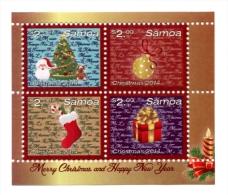 sam1411s1 Samoa 2014 Christmas s/s