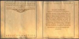 GEMANY - FABRIK  BOLDDERRAHMEN - EDMUND STOLZENBERGER - LEIPZIG  - 1911 - Affiches