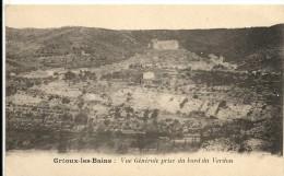 VUE GENERALE PRISE DU BORD DU VERDON - Gréoux-les-Bains