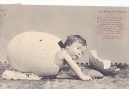 24323 Enfant Oeufs Oeuf Paques Bebe -poeme Gaboriaud Marcel Houjan - - Cartes Humoristiques