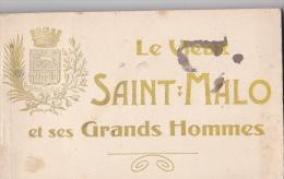 24326 Vieux Saint Malo Et Ses Grands Hommes -carnet De 19 Cpa - GF - Saint Malo