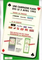 FDJ FRANCAISE DES JEUX 1 PLV ELEMENT RECTO VERSO SUR CARTON EPAIS GLACE TAPIS VERT SYSTEME FLASCH 1992 PROMOTION PIN'S - Publicités