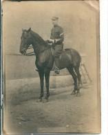 Carte  Photo  D' un  Cavalier  prise  en  1907   �  reconnaitre              angle cass�