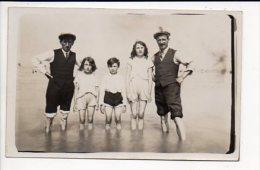 Carte photo ou photographie - Portrait de famille � la plage  / Photographe sans