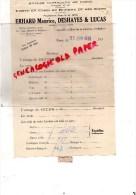 75001- 75- PARIS - HALLES CENTRALES -LETTRE ERHARD MAURICE- DESHAYES & LUCAS- BEURRE ET OEUFS- 1936 - France