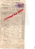 75001- 75- PARIS - HALLES CENTRALES - FACTURE  ERHARD MAURICE- DESHAYES & LUCAS- BEURRE ET OEUFS- 1935 - France