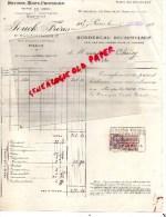 75001 - 75- PARIS - FACTURE JOUCK FRERES-17 RUE DES HALLES - BEURRE OEUFS FROMAGE- 1935 - France