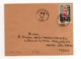 ENVELOPPE DE PENTHIEVRE POUR NANTES 10/05/1963 - Algeria (1924-1962)