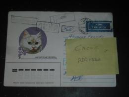 LETTRE RECOMMANDEE RUSSIE RUSSIA ROSSIJA URSS USSR CCCP AVEC AFFRANCHISSEMENT DE FORTUNE - CHAT CAT - - 1992-.... Fédération