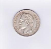 Piece De 5 Francs Argent Napoléon III De 1870 A En Sup Avec Une Très Belle Patine - France