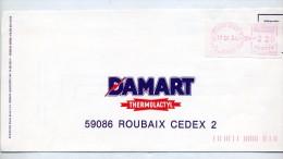 Lettre Affranchissement Vignette Machine Roche Sur Yon - Marcofilie (Brieven)