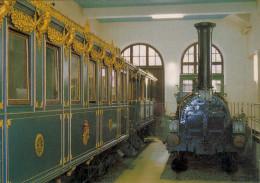 AK Eisenbahn Deutschland Salonwagen Hofzug König Ludwig II V. Bayern Lok Phoenix Verkehrsmuseum Nürnberg Bavaria - Trains