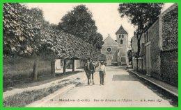 - MANDRES - (S.et O.) Rue De Brunoy Et L'Eglise (recto Verso) - Mandres Les Roses