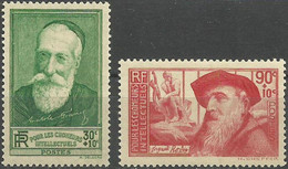 FRANCE..1937..Michel # 351-352...MLH. - Unused Stamps