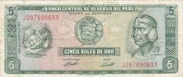 Pérou - Billet De 5 Soles De Oro - 9 Septembre 1971 - Inca Pachacutec - Peru