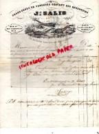 87 - LIMOGES - TRES BELLE FACTURE J. SALIS- DEPOT DE SANGSUES - 3 RUE DU CONSULAT - M. DESPLAN- 1850 - Francia