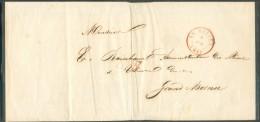 LAC Imprimé De LE ROEULX Le 3 Avril 1849 Vers Hornu Via Saint-Ghislain - Contenu Faire-part De Décès De Nicolas Joseph D - 1830-1849 (Belgique Indépendante)