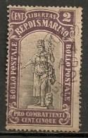 Timbres - Saint-Marin - 1918 - 2 Cent. - - Oblitérés