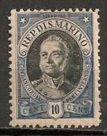 Timbres - Saint-Marin - 1926 - 10 Cent. - - Oblitérés