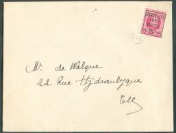N°273 - 5c. S/40c. BRUXELLES 1929 BRUSSEL Sur Lettre Imprimé Vers La Ville - Superbe  - 10340 - Typos 1922-31 (Houyoux)