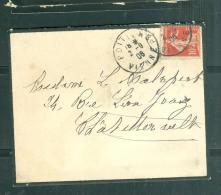 LAC Affranchie Par Yvert N°134 Semeuse Avec Sol  Oblitéré Poitiers R.P. En 1908    Mala2025 - 1877-1920: Semi Modern Period
