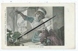 CPA - Chocolat Vinay - C'est Maman Qui Arrive  - Série V, 28 Sujets. N°7 - Enfants- - Chocolat