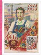 ( CM ) RUSSIE Urss YT 2108 Obl 1958  ( MAXIMUM CARD ) - 1923-1991 USSR