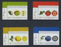 !a! GERMANY 2010 Mi. 2769-2772 MNH SET Of 4 SINGLES From Upper Left Corners -Fruit - BRD