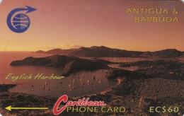 Antigua, ANT-3DD, EC$ 60,  English Harbour, 2 Scans.   3CATD - Antigua And Barbuda
