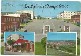 K2277 Saluti Da Campobasso - Caserma E. Frate - Bar Europa - Panorama / Viaggiata 1970 - Campobasso